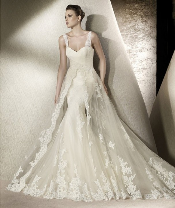 Mermaid and Sweetheart Wedding Dress M-171