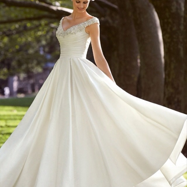 A-Line, Sweetheart and Simple Wedding Dress M-1293
