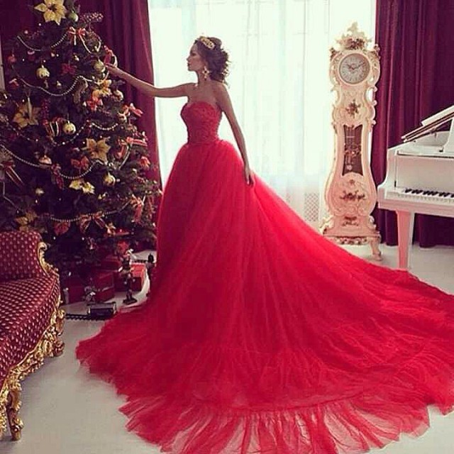 Ball Gown, Fluffy and Evening Gowns Wedding Dress M-1431