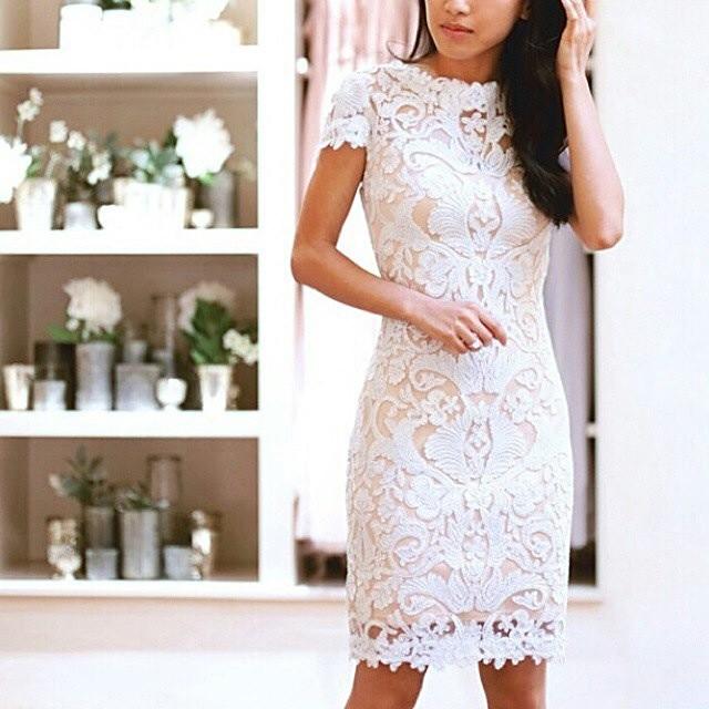 Sheath and Lace Wedding Dress M-1458