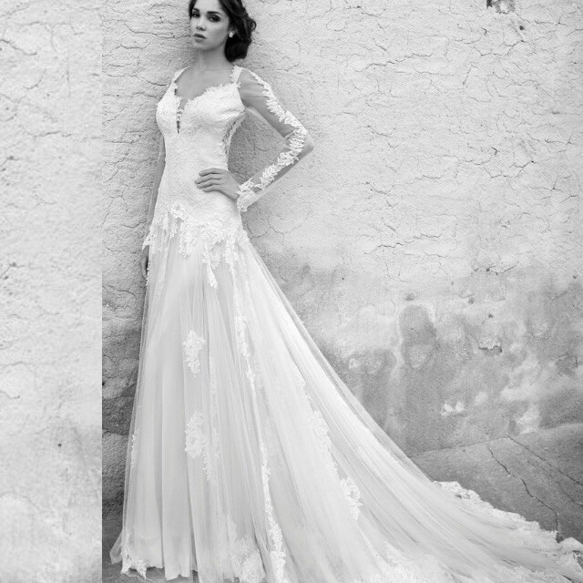 A-Line, Lace and Sweetheart Wedding Dress M-1481