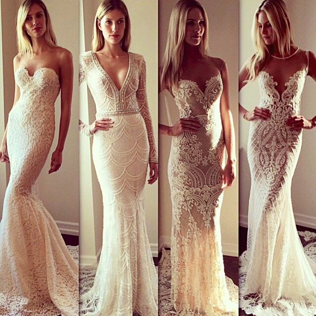 Sheath, Strapless Sweetheart and Mermaid Wedding Dress M-1791