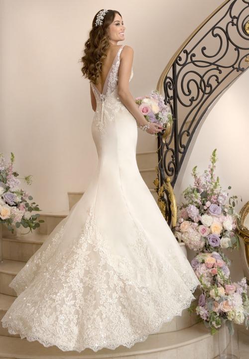 Mermaid, Sweetheart and Backless, Lace Back, V Back, Back Details Wedding Dress M-1852