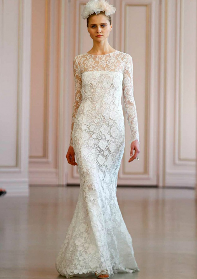Sheath, Sleeves, 2016 and Lace Wedding Dress M-2000