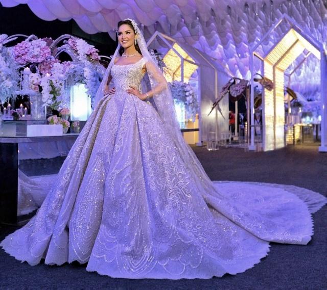 Prenses, Askılı ve Duvaklı Gelinlik Modeli M-2155