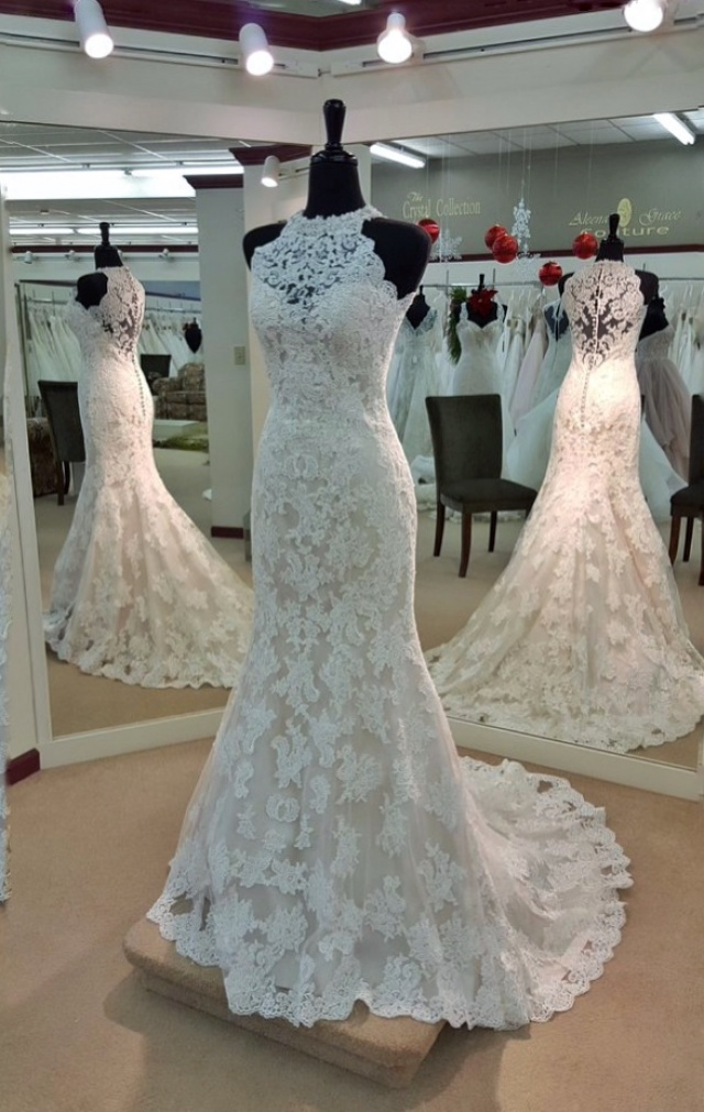 Lace and Mermaid Wedding Dress M-2231