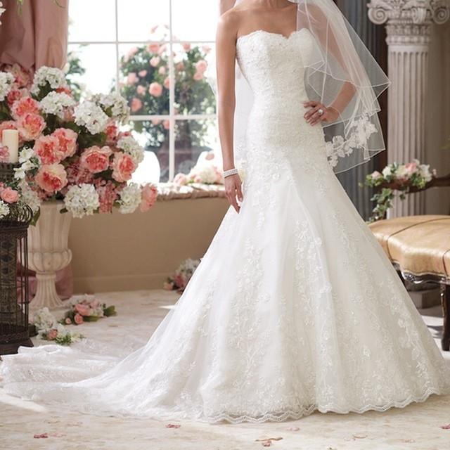 A-Linie und Herz-Ausschnitt Brautkleid M-1025