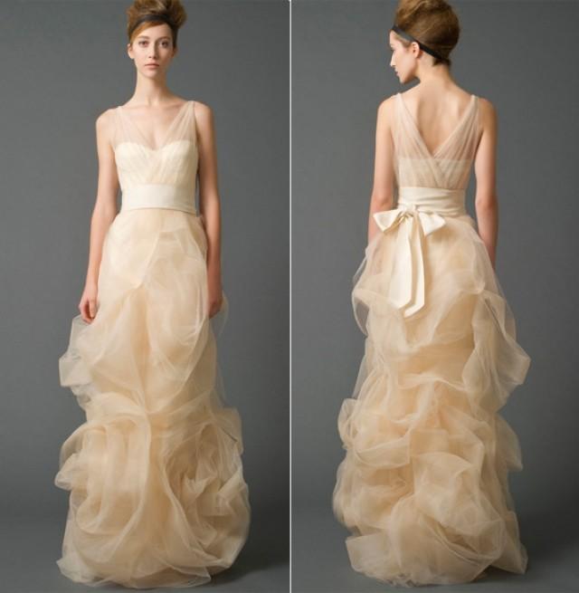 Sheath and Illusion - Sheer Wedding Dress M-425