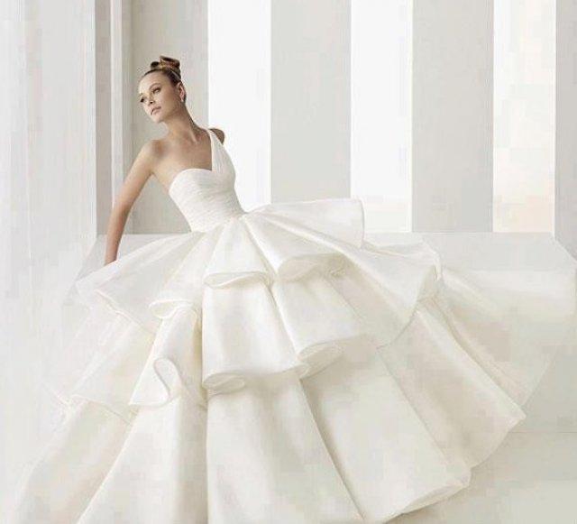 One Shoulder Wedding Dress M-469