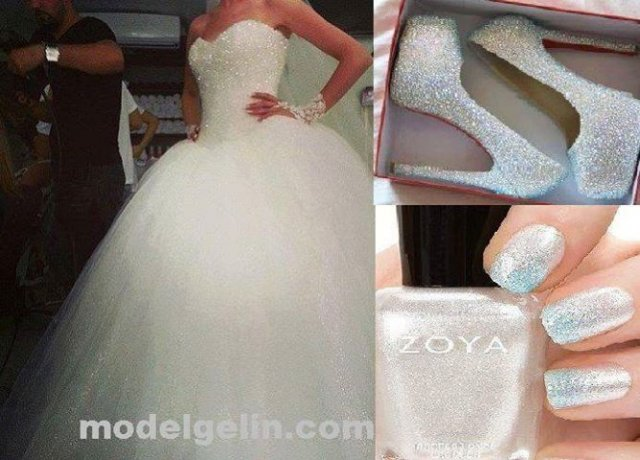 Ball Gown and Strapless Sweetheart Wedding Dress M-674