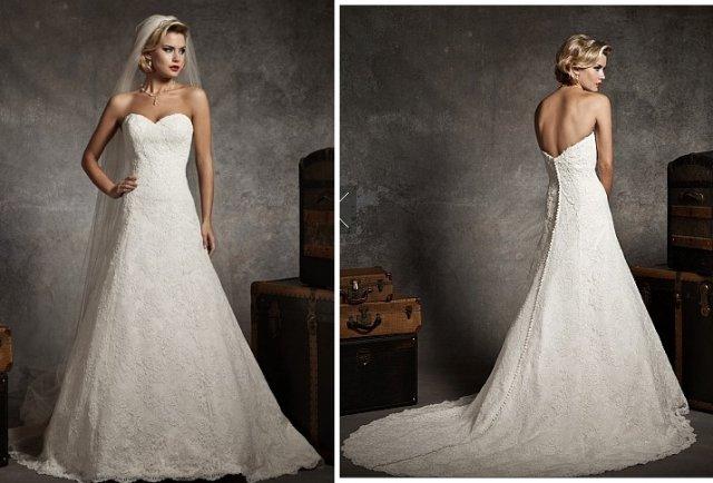 A-Linie und Herz-Ausschnitt Brautkleid M-697