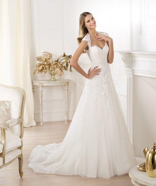 Sheath and Sweetheart Wedding Dress M-764