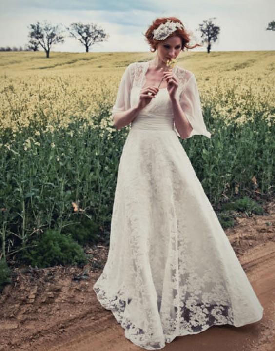 A-Linie, Trägerloser Ausschnitt und Klassische, Vintage Inspiriert Brautkleid M-1137