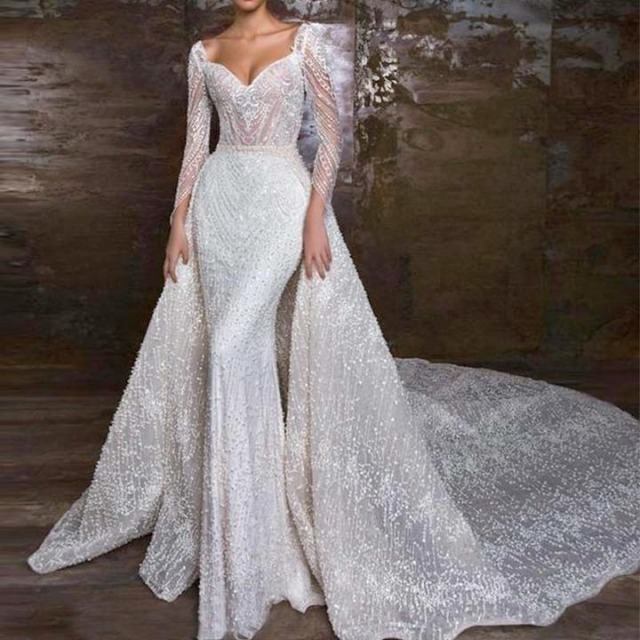 Sheath, Sleeves, Strapless Sweetheart and 2020 Wedding Dress M-2234